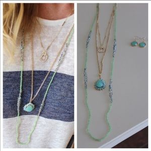Jewelry - Mint Acrylic Ornate Link Chain Necklace